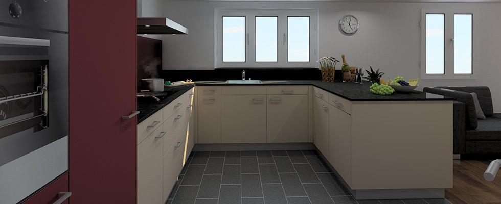 Küche In U-Form