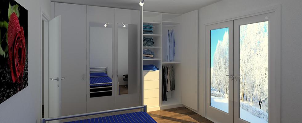 5-türiger Schlafzimmerschrank Mit Aussenspiegel