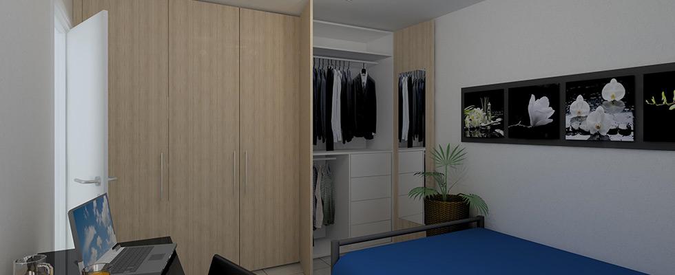 Kleiderschrank In Ahorn Furniert