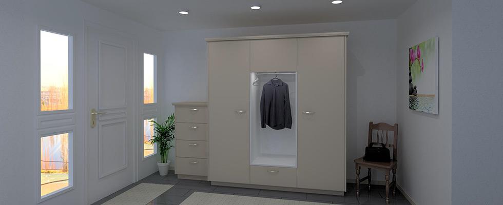 Garderobe Mit Offener Kleidernische